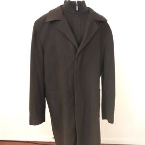 Cole Haan Brown Long Wool/cashmere blend coat